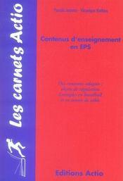 Les contenus d'enseignement en EPS ; des contenus adaptés : objets de régulation ; exemple en hanball et en tennis de table - Intérieur - Format classique
