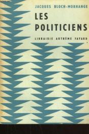 Les Politiciens. - Couverture - Format classique