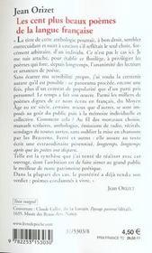 Les Cent Plus Beaux Poemes De La Langue Francaise Orizet Jean