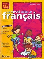 L'ATELIER DE FRANCAIS ; CE2 ; livre de l'élève - Intérieur - Format classique