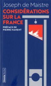 Considérations sur la France - Couverture - Format classique