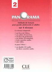 Panorama 2 de francaislivre du professeur - 4ème de couverture - Format classique