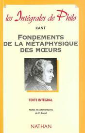 Int phil 08 fondement metaphys - Intérieur - Format classique