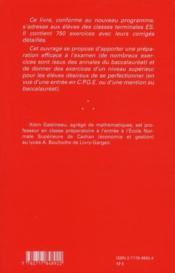 Pour reussir son bac ES ; 750 exercices corrigés de mathématiques - 4ème de couverture - Format classique