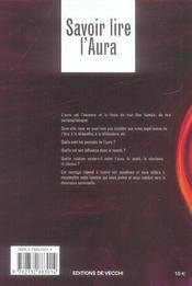 Savoir Lire L'Aura - 4ème de couverture - Format classique