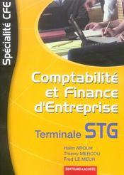 Comptabilité et finance d'entreprise ; terminale STG ; manuel de l'élève - Intérieur - Format classique