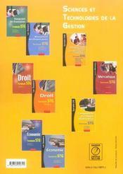 Comptabilité et finance d'entreprise ; terminale STG ; manuel de l'élève - 4ème de couverture - Format classique