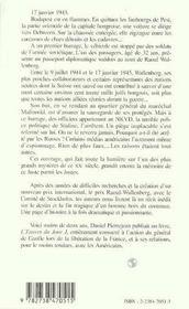 Les secrets de l'affaire raoul wallenberg - 4ème de couverture - Format classique