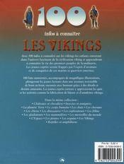 100 Infos A Connaitre ; Les Vikings - 4ème de couverture - Format classique