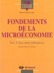 Fondements de la microeconomie - volume 1 les choix individuels - Intérieur - Format classique