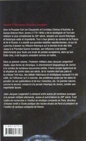 Faire La Guerre Antoine Henri Jomini Volume 1 - 4ème de couverture - Format classique
