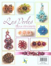 Les perles ; bijoux etincelants - 4ème de couverture - Format classique