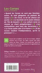 Les Corses - 4ème de couverture - Format classique