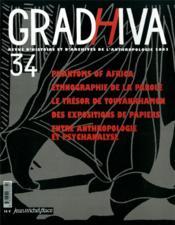 Revue Gradhiva N.34 ; entre anthropologie et psychanalyse - Couverture - Format classique