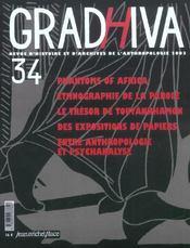 Cahier De Gradhiva N.34 ; ... Entre Anthropologie Et Psychanalyse - Intérieur - Format classique