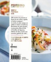 Poissons & Crustaces Faciles - 4ème de couverture - Format classique
