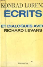 Ecrits Et Dialogues Avec Richards I. Evans. - Couverture - Format classique