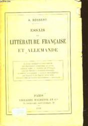 Essais De Litterature Francaise Et Allemande - Couverture - Format classique