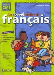 L'ATELIER DE FRANCAIS ; CM1 ; livre de l'élève - Intérieur - Format classique