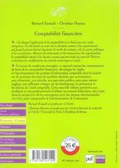 Comptabilite financiere - 4ème de couverture - Format classique