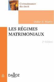 Les régimes matrimoniaux (2e édition) (2e édition) - Couverture - Format classique