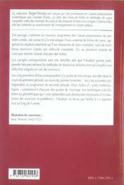 Mecanique ; Fiches Et Methodes Et Exercices Corriges ; 1e Annee - 4ème de couverture - Format classique