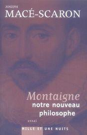Montaigne, notre nouveau philosophe - Intérieur - Format classique