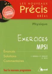 Physique ; exercices ; MPSI - Couverture - Format classique