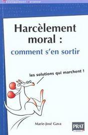 Harcelement moral comment s'en sortir - Intérieur - Format classique