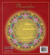 Mandalas yoga - 4ème de couverture - Format classique