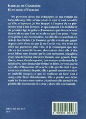 Honorine d'Userche - 4ème de couverture - Format classique