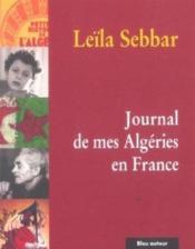 Journal de mes Algeries en France - Couverture - Format classique