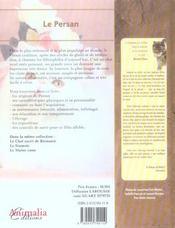Le Persan - 4ème de couverture - Format classique