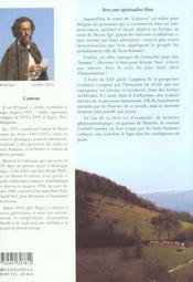 Catharisme et chrétienté - 4ème de couverture - Format classique