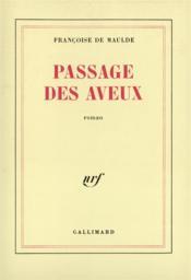 Passage des aveux - Couverture - Format classique