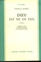 Dieu Est Ne En Exil. - Couverture - Format classique