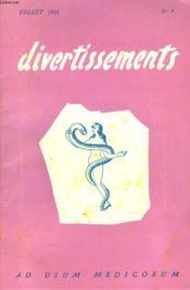 Divertissements, Ad Usum Medicorum N°7, Juillet 1955 - Couverture - Format classique