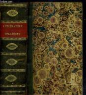 Resume De L'Histoire De La Litterature Italienne - Tome Premier + Tome Second En Un Volume. - Couverture - Format classique