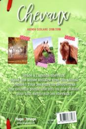 Agenda scolaire ; chevaux - 4ème de couverture - Format classique