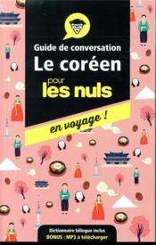 Guide de conversation coréen pour les nuls en voyage - Couverture - Format classique