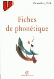 Fiches de phonetique - Couverture - Format classique