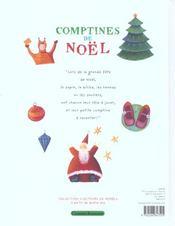 Comptines de noel - 4ème de couverture - Format classique