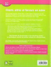 Clowns, pitres et farceurs en scène - 4ème de couverture - Format classique