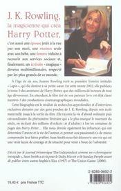 J. K. Rowling, la magicienne qui créa Harry Potter - 4ème de couverture - Format classique