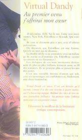 Au Premier Venu J'Offrirai Mon Coeur - 4ème de couverture - Format classique