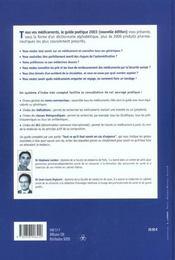 Tous Vos Medicaments ; Le Guide Pratique 2003 - 4ème de couverture - Format classique