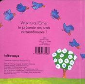 Les amis d'Elmer - 4ème de couverture - Format classique