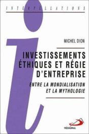 Investissements éthiques et régie - Couverture - Format classique