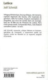 Lutèce ; Paris, des origines à Clovis - 4ème de couverture - Format classique