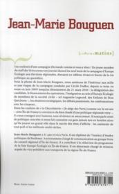 Carnets de campagne ; dans les coulisses d'Europe Ecologie - 4ème de couverture - Format classique